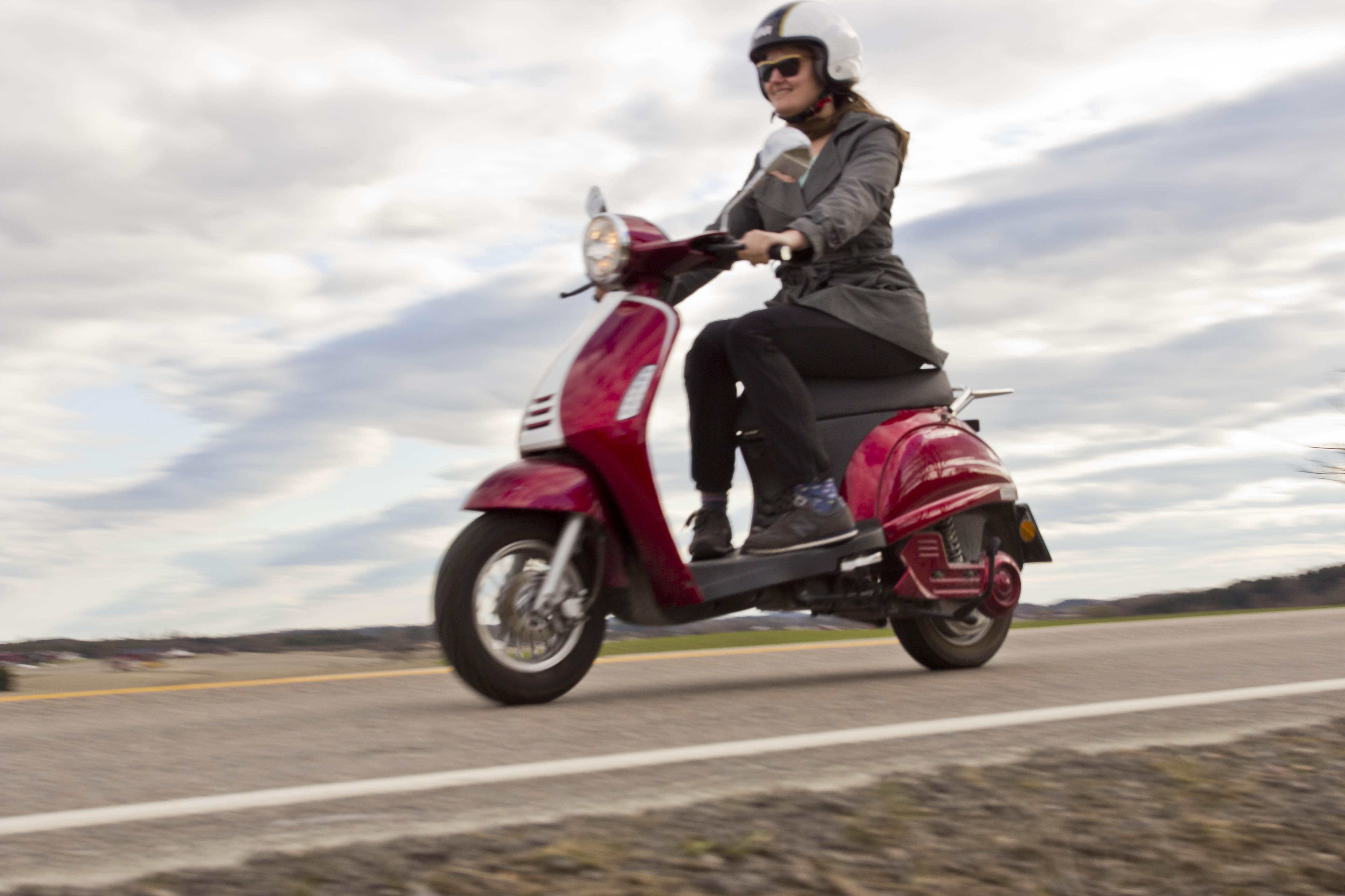Prøvekjøring elektrisk moped